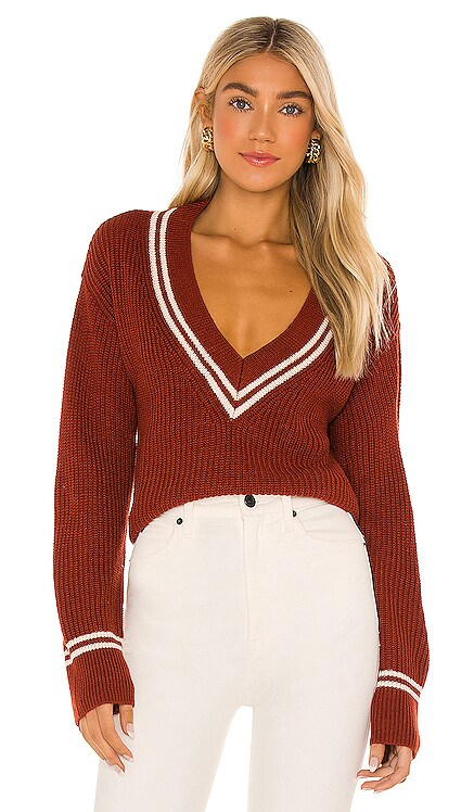 Brianna V Neck Sweater Lovers + Friends $148 NEW