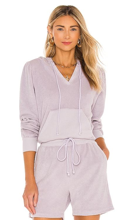Wyatt Crop Puff Sleeve Hoodie Lovers + Friends $138