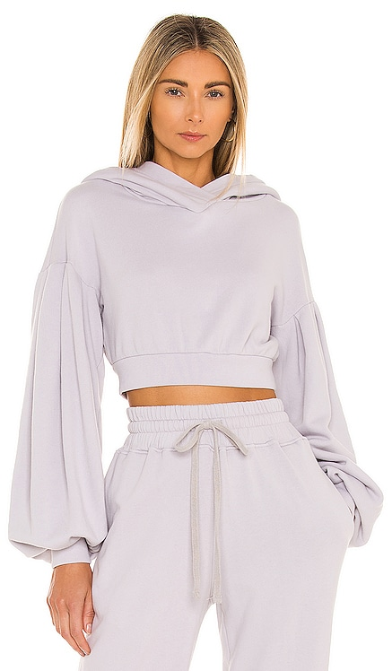 Pleated Sleeve Hoodie Lovers + Friends $158