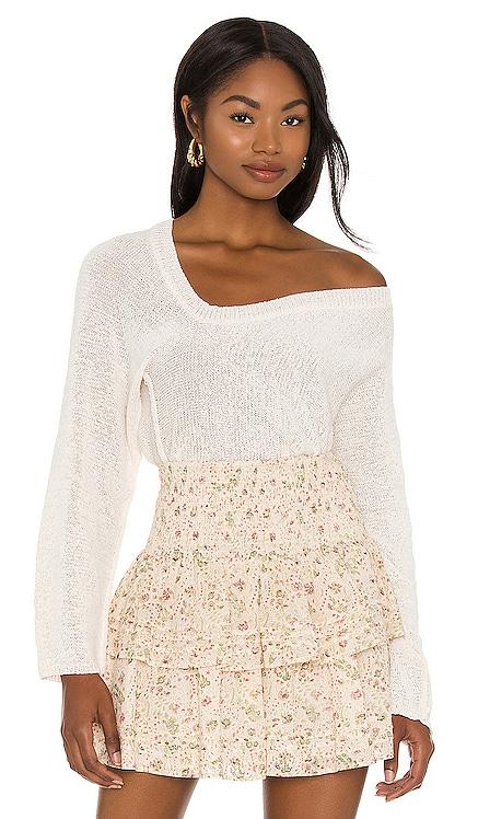 Rita Off Shoulder Sweater Lovers + Friends $118 NEW