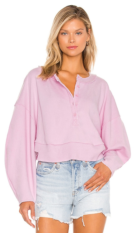 Oversized Henley Pullover Lovers + Friends $118
