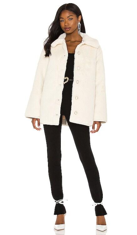Natalia Faux Fur Jacket Lovers + Friends $328 NEW