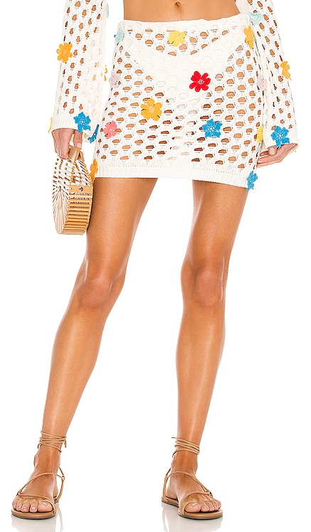 Flower Power Skirt Lovers + Friends $138 BEST SELLER