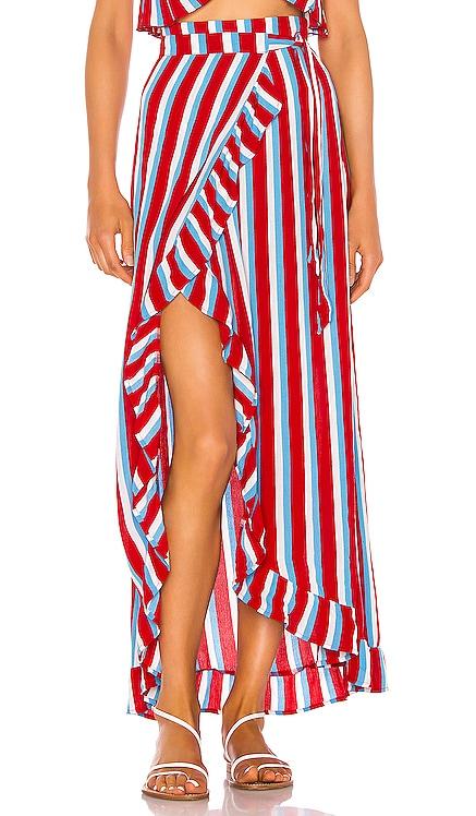 Waves For Days Wrap Skirt Lovers + Friends $138 BEST SELLER