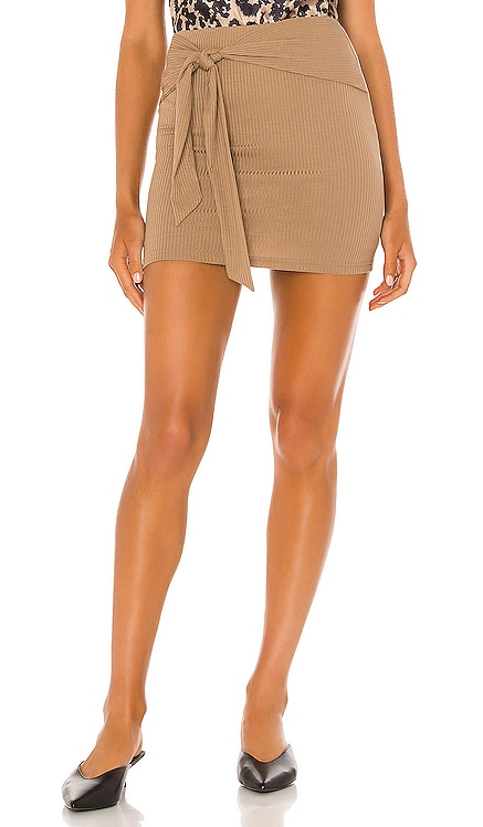 Justina Tie Mini Skirt Lovers + Friends $88 NEW