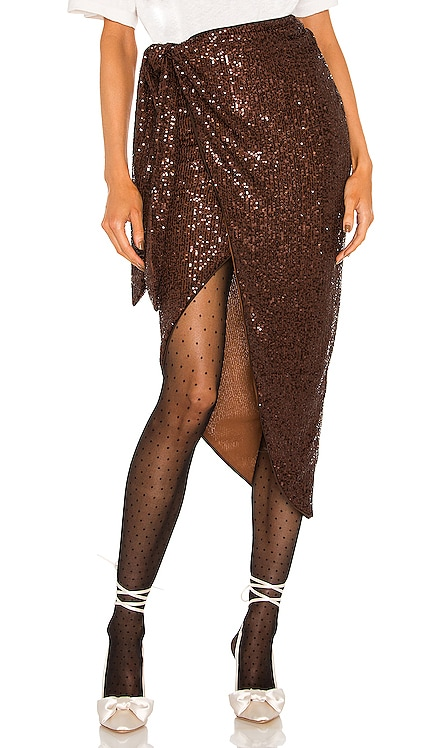 Amber Sequin Skirt Lovers and Friends $188