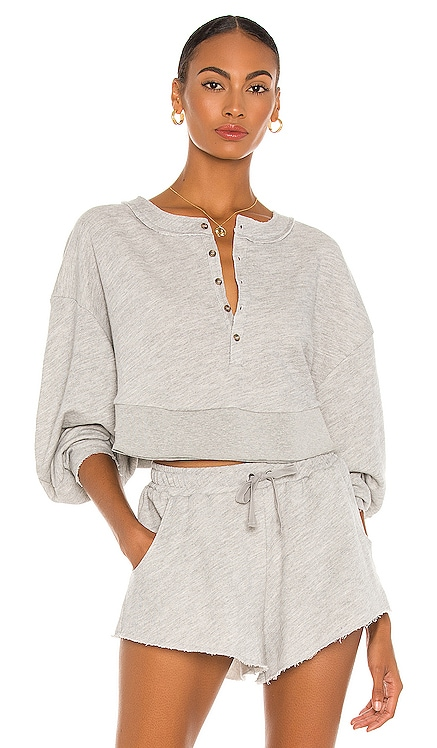 Oversized Henley Pullover Lovers + Friends $108
