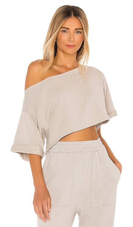 Cropped Off Shoulder Top Lovers + Friends $118