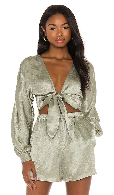 Tie Front Top Lovers + Friends $158 NEW