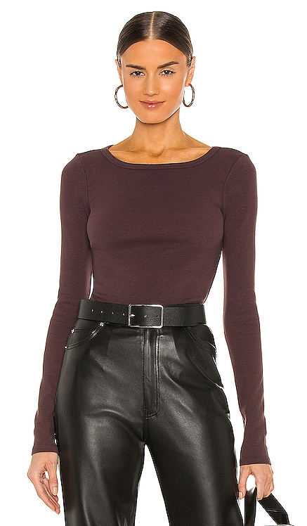 Fitted Long Sleeve Top Lovers + Friends $128 NEW