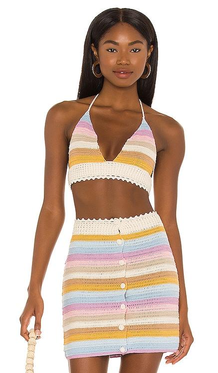 Lisette Crochet Micro Top Lovers + Friends $138