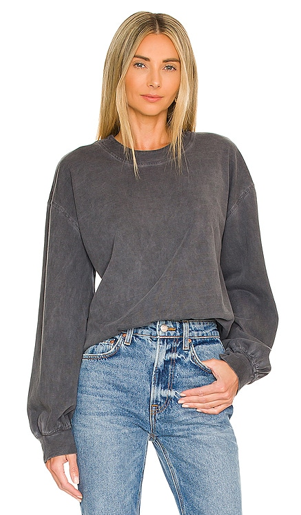 Jizelle Top in Washed Grey Lovers and Friends $128 NEW