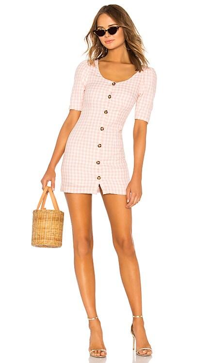 Puff Sleeve Button Up Dress LPA $65