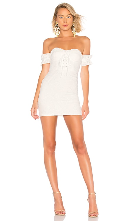 Fitted Lace Up Dress LPA $34 (FINAL SALE)