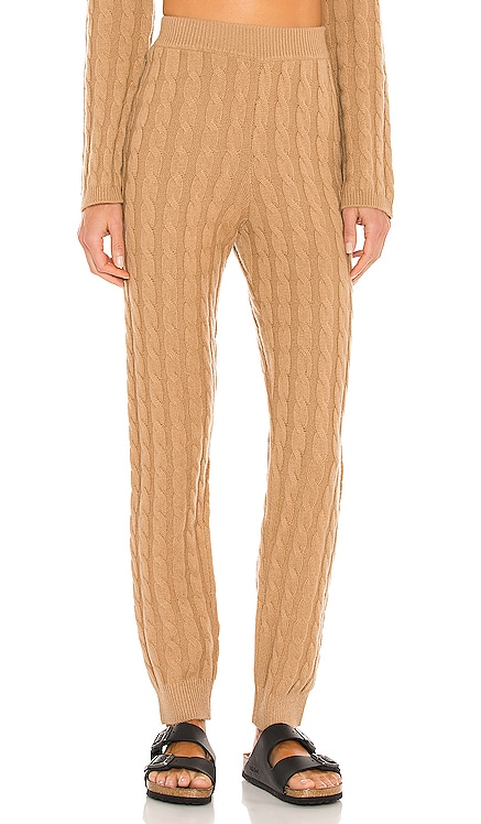 Cashmere Cable Knit Easy Pant LPA $298 NEW