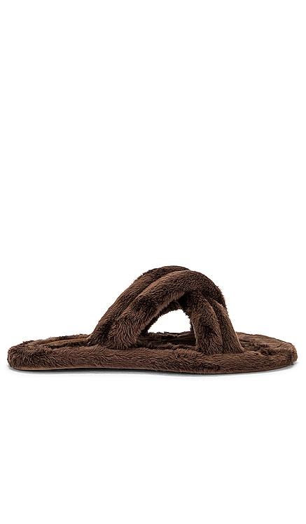 Cali Faux Fur Slipper Larroude $150