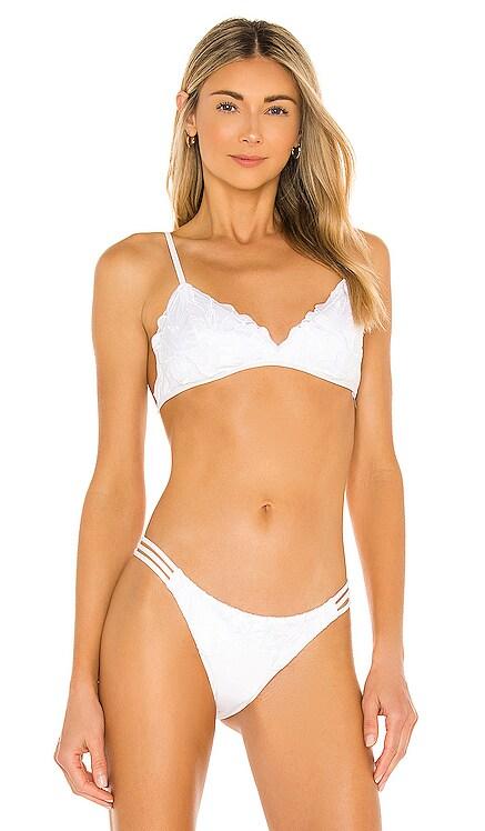 X REVOLVE Jean Bikini Top L*SPACE $110 NEW