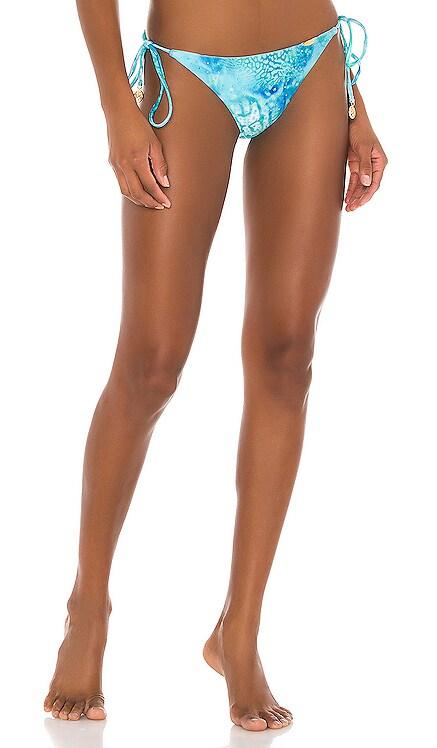 Ocean Shimmer Cystal Ruched Bottom Luli Fama $97 NEW