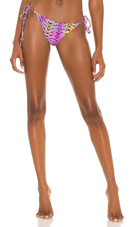 Wavy Ruched Back Tie Side Bikini Bottom Luli Fama $90 BEST SELLER