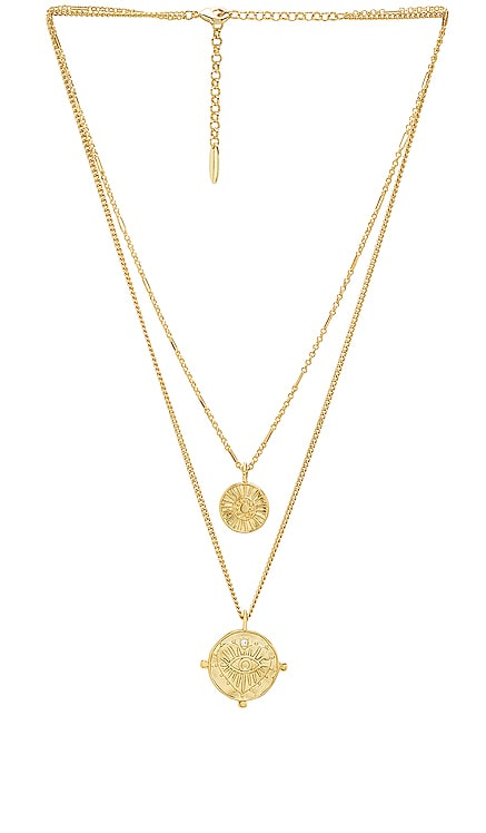 x REVOLVE The Double Coin Charm Necklace Luv AJ $113 BEST SELLER