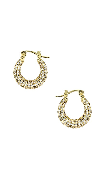 The Pave Mini Martina Hoops Luv AJ $85