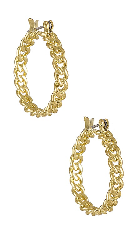 Mini Cuban Link Hoops Luv AJ $45
