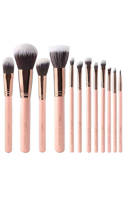 KIT DE PINCEAUX POUR LE MAQUILLAGE ROSE GOLD Luxie $125 BEST SELLER