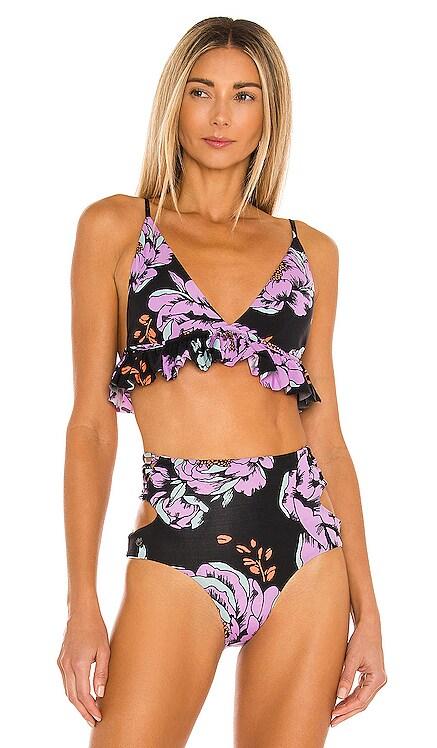 Miramar Flounce Bikini Top Maaji $72 NEW