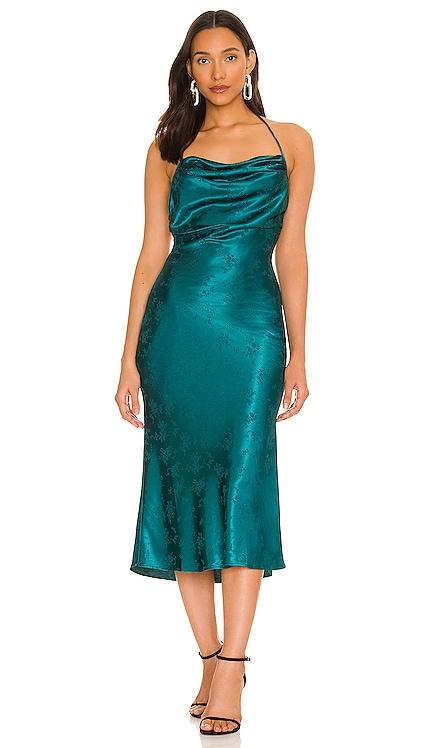 Mermaid Midi Dress MAJORELLE $238 NEW