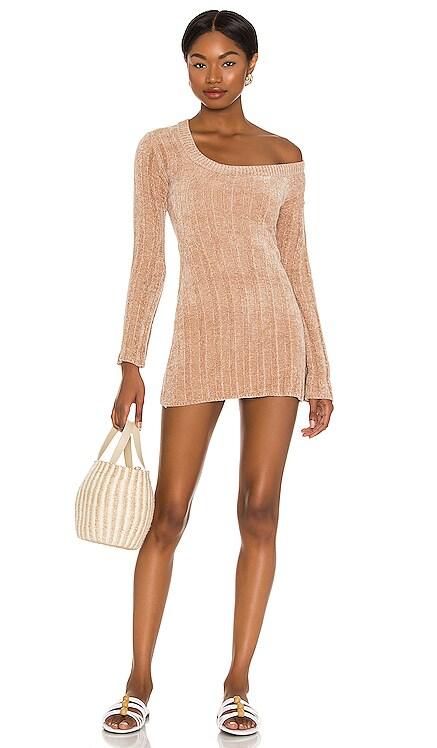 Britta Chenille Mini Dress MAJORELLE $138 NEW