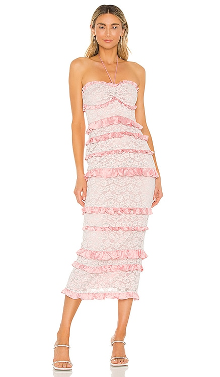Lyla Midi Dress MAJORELLE $238 BEST SELLER