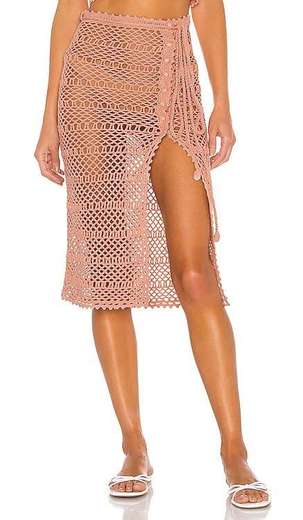 Adair Crochet Skirt MAJORELLE $168