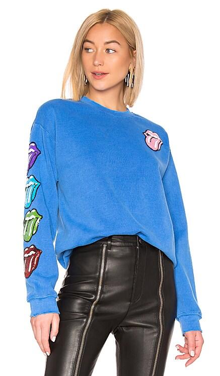 Stones Sequins Tongues Sweatshirt Madeworn $276