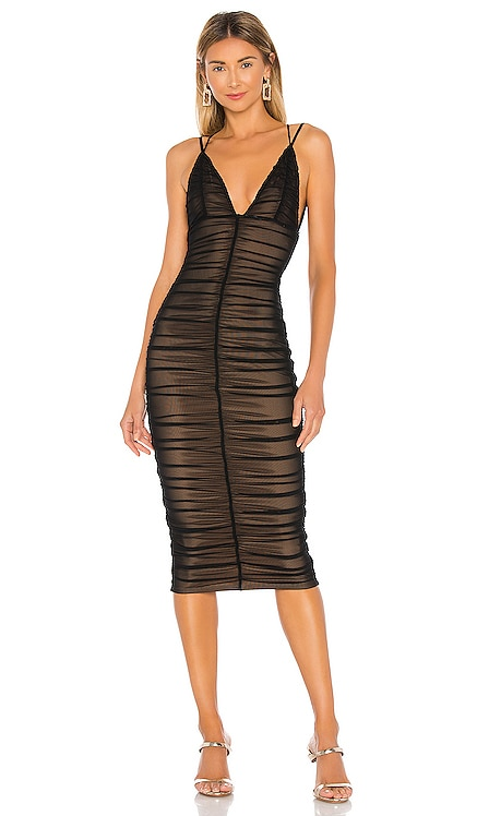x REVOLVE Fiji Midi Dress Michael Costello $168 NEW