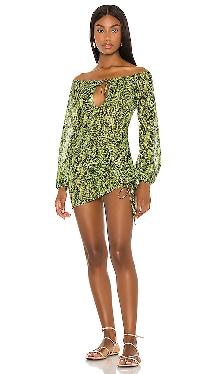 x REVOLVE Lola Mini Dress Michael Costello $198 NEW