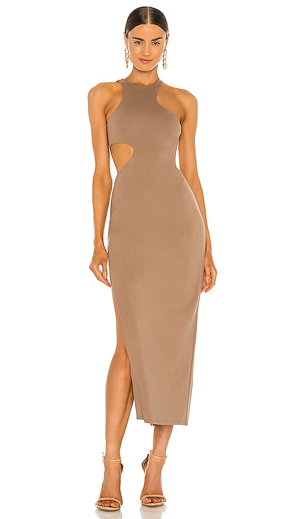 x REVOLVE Rylan Midi Dress Michael Costello $198 NEW