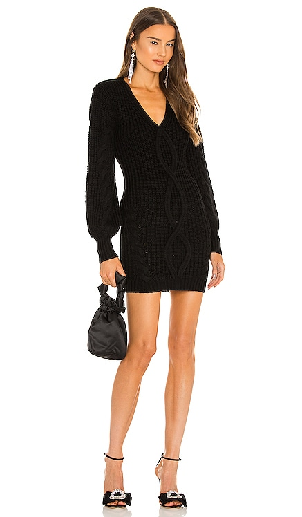 x REVOLVE Andromeda Cable Knit Dress Michael Costello $288 NEW