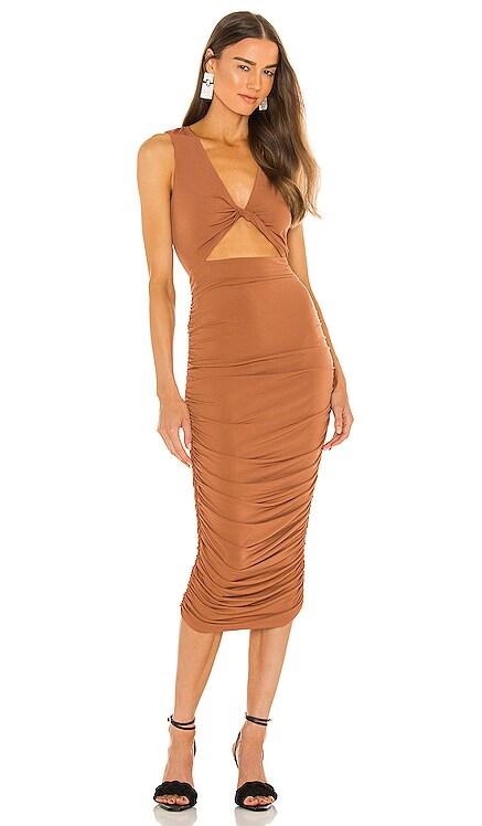 x REVOLVE April Midi Dress Michael Costello $185 NEW