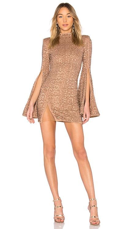 MR. GIBSON タートルネックベルスリーブドレス Michael Costello $278 ベストセラー