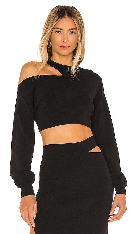 x REVOLVE Asym Cut Out Dolman Sweater Michael Costello $138 NEW