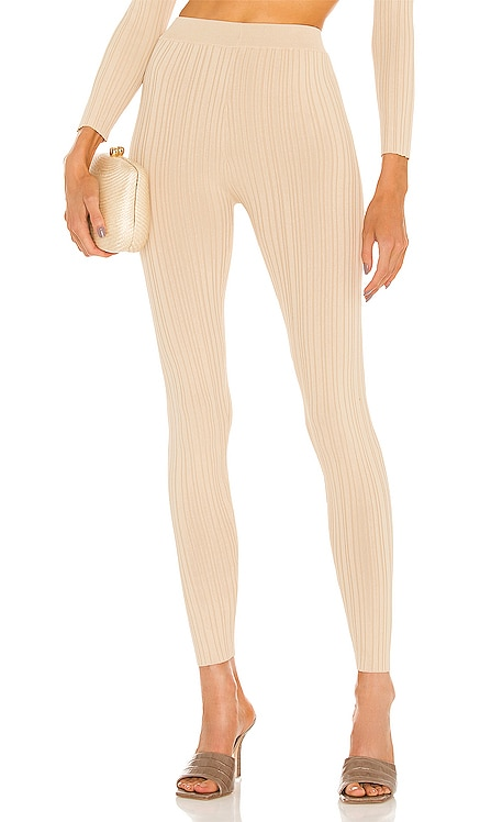 Knit Ribbed Leggings Michael Costello $168 NEW