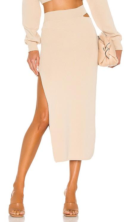 x REVOLVE Cut Out Knit Midi Skirt Michael Costello $158