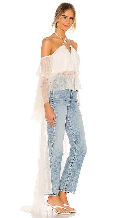 x REVOLVE Vivian Blouse Michael Costello $225 NEW