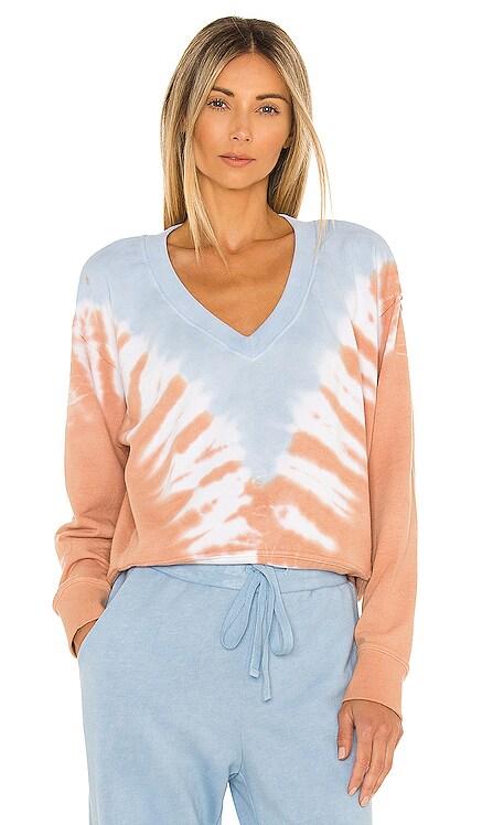 Camila V Neck Crop Sweatshirt Michael Stars $138