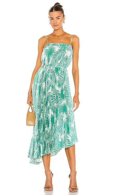 Irene Oversized Palm Print Dress MILLY $350 BEST SELLER