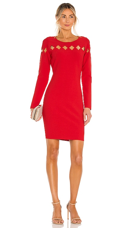 Scallop Cut Out Fitted Dress MILLY $425 NEW
