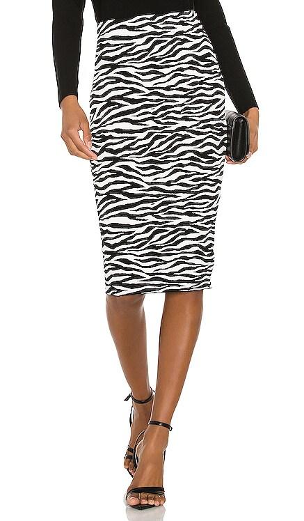 Zebra Midi Skirt MILLY $138