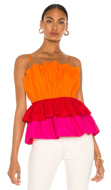 Naomi Poplin Top MILLY $255 NEW