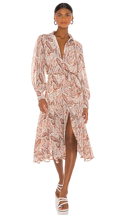 Woodstock Paisley Midi Dress MINKPINK $129