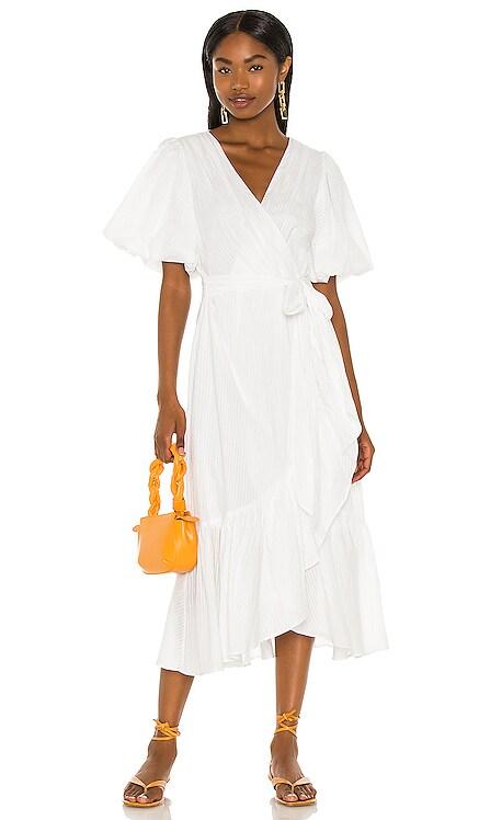 Jessey Wrap Midi Dress MINKPINK $129 NEW